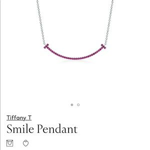 Tiffany T 18k white gold with round rubies